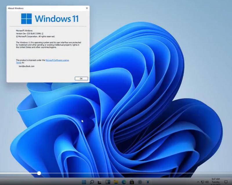 Die neue Windows 11-Benutzeroberfläche.
